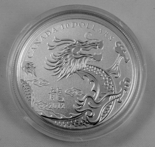 Canada 1/2 ounce Silver Dragon