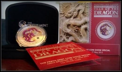 2012 Australia Brisbane Colored Dragon Special Show release