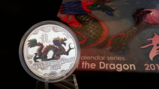 2012 Niue Year of the Dragon - with pearl, 1 dollar Coin