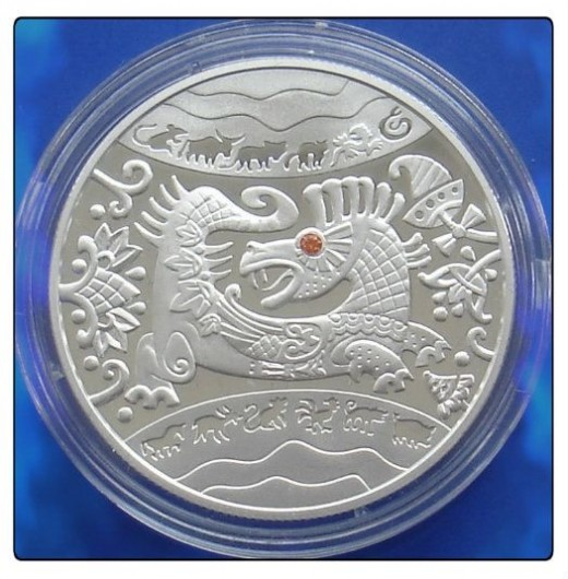 2012 Ukraine Silver Dragon bullion Coin