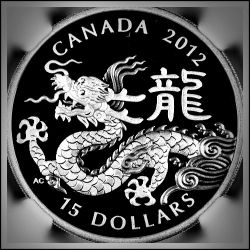 Canada 2012 Year of the Dragon Silver Proof