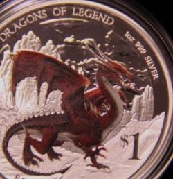 Australian Perth Mint Dragons of Legend Silver Coins