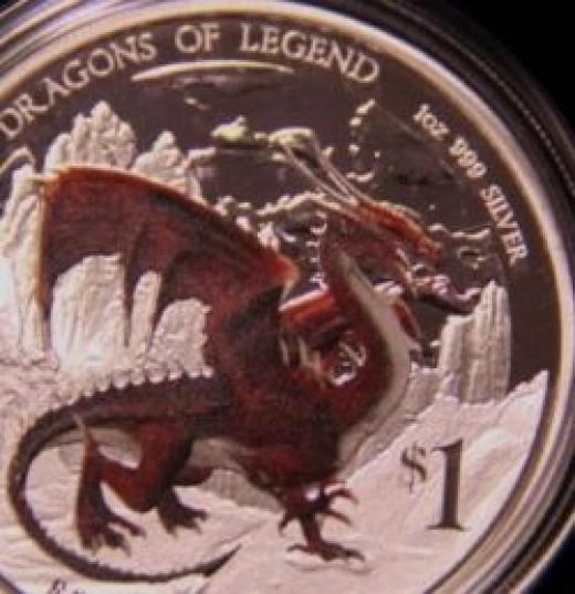 Australian Perth Mint Dragons of Legend Silver Coins