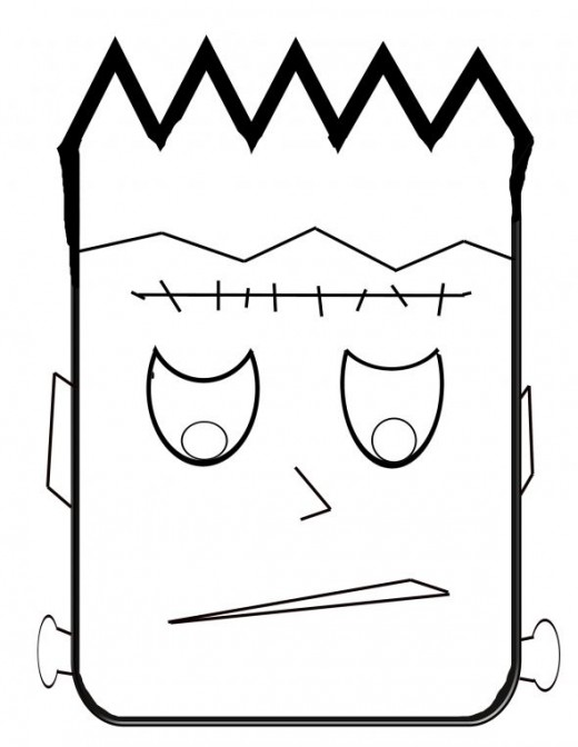 free halloween monster coloring pages - photo#5