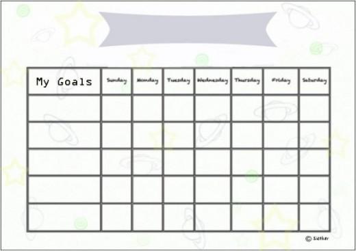 Planets goals chart.