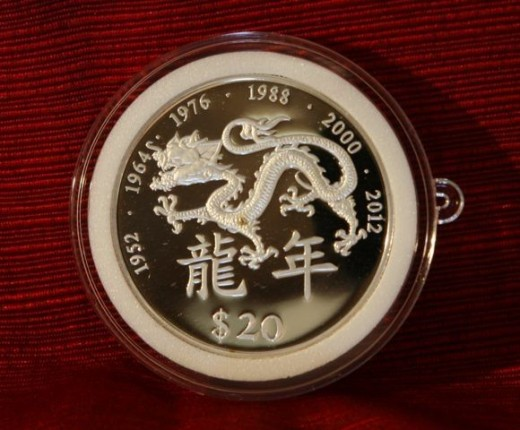 Liberia 2000 Silver Proof Dragon