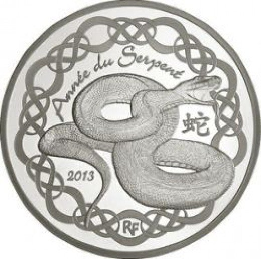French 10 Euro Year of the Snake