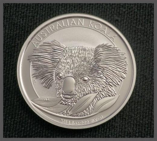 2014 Australia Silver Koala 1 ounce Silver Coin