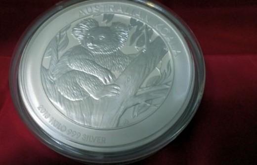 Australia 2013 Kilo silver koala coin