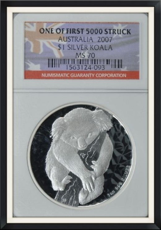 Australia 2007 S$1 Silver Koala First Year of Issue NGC MS-70