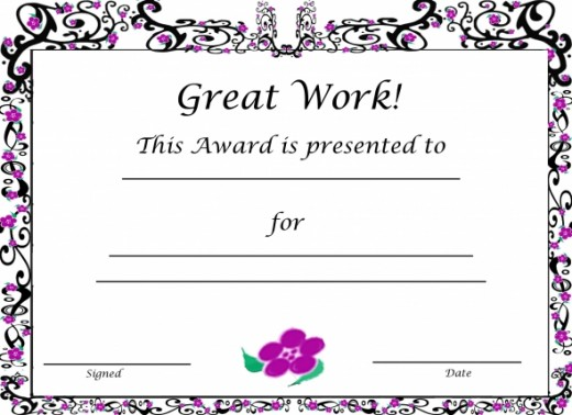 Free Printable Award Certificates For Kids | Hubpages