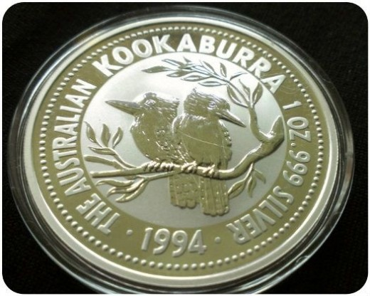 1994 Australian silver kookaburra