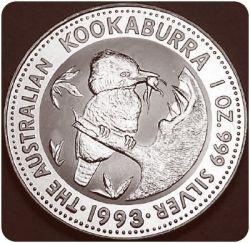 1993 Silver Kookaburra