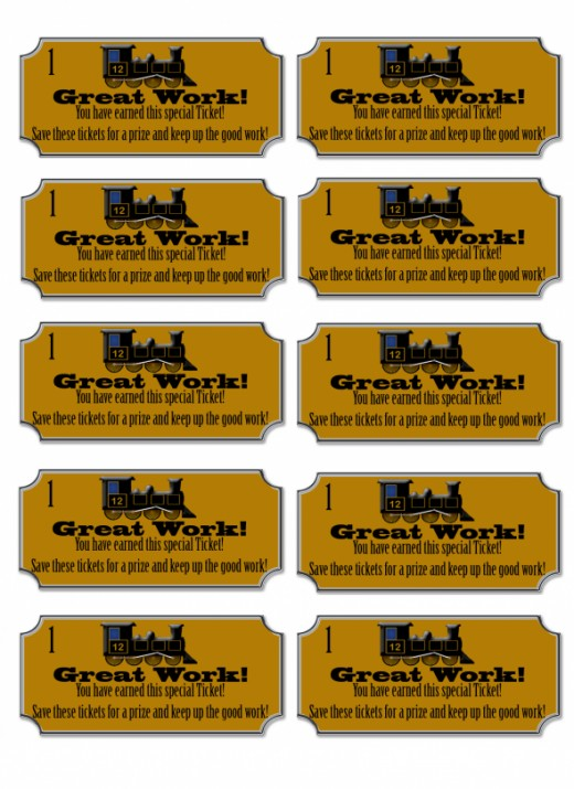 This is an image of Universal Printable Train Tickets