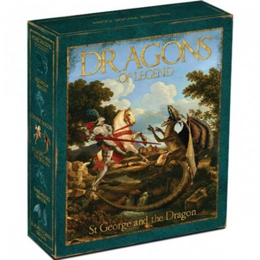 2012 Australia Perth Mint Dragons Of Legend St George and the Dragon Coin Box