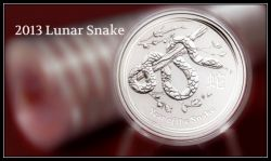 2013 Australia Year of the Snake coins by Perth Mint
