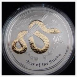 1 oz Gilded Silver Coin