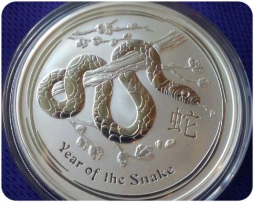 2013 Lunar Silver Snake Coin