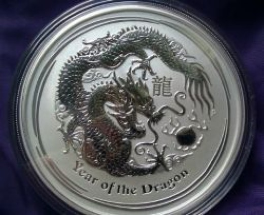 Perth Mint Silver Lunar Dragon