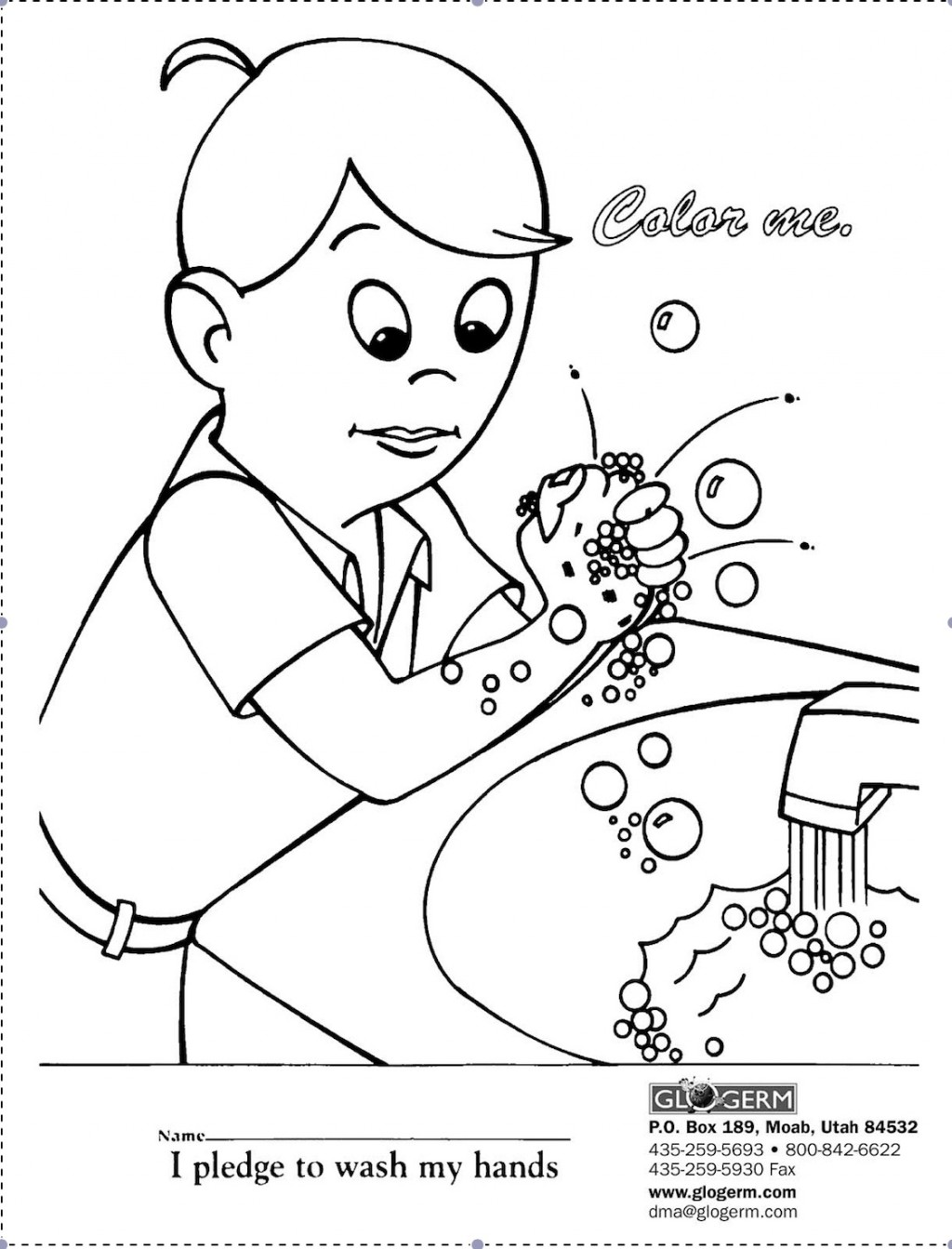 F on Personal Hygiene Coloring Pages