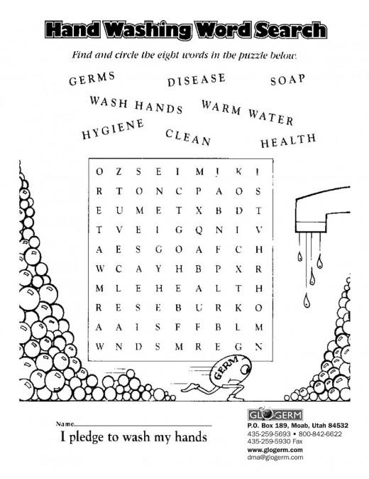 grade 3 Glo Germ Lesson