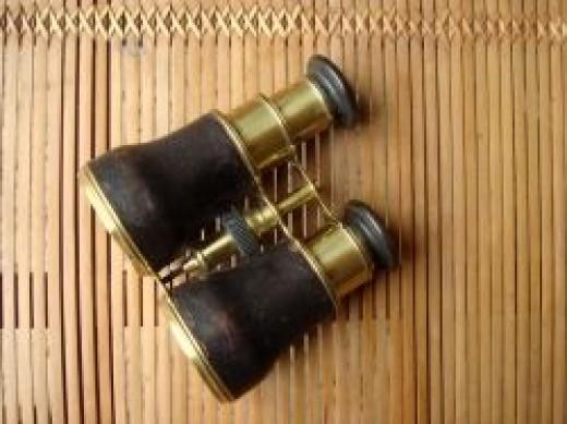 An old pair of Cox-Devonport binoculars c.1850