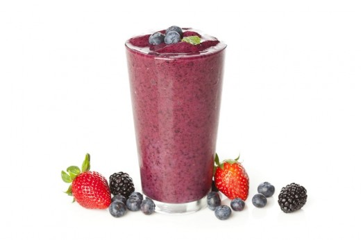 blended berry smoothie