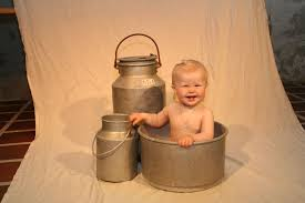 Babies should not be allowed to play with bucket especially when it is filled with a liquid
