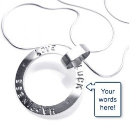 Your words to your wife on this necklace