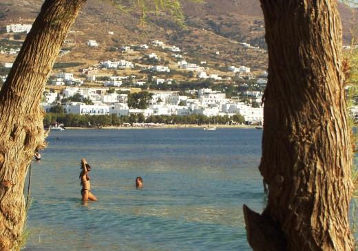 Typical Greek Island Beach near town