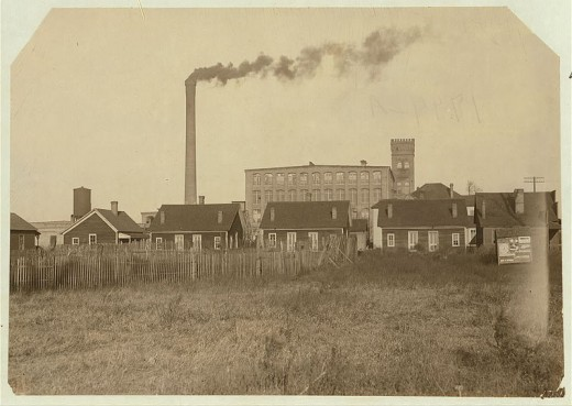 Housing in a mills factory in Alabama. Photographed by Hine, Lewis Wickes.