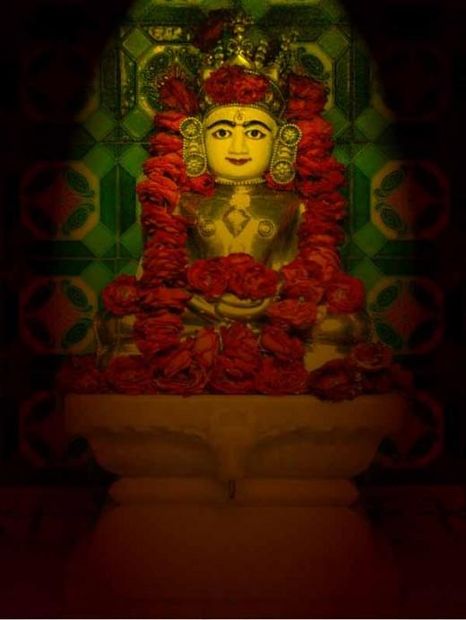 Rishabhdev, Adinath as Mulanayaka in Vijaya Gachchha Jain Temple, Jaipur, India.