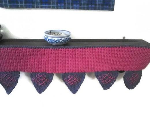 Crochet Toran with Kolam Designs