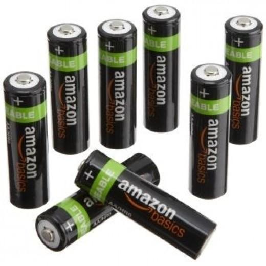 AmazonBasics AA NiMH Precharged Rechargeable Batteries