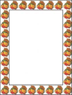Thanksgiving Harvest Border