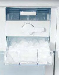 Icemaker - they say that icemakers are spill free, simplify the process of making ice and can save space. They might be right on the first two but having a large section of your freezer taken up by a chunky plastic box is counterintuitive as a space