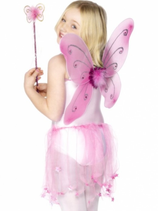 Fairy Wings & Wand Set - Available in Pink, Lilac and Green