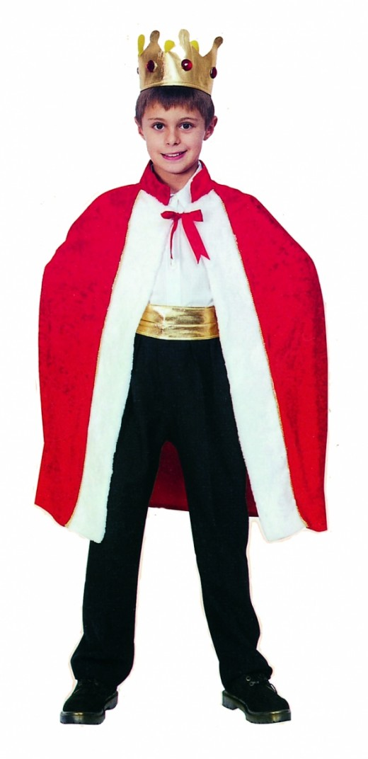 Kids King / Queen cloak - Available in 3 sizes