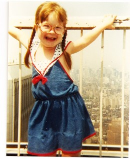 "Down Syndrome. ""I love New York."""