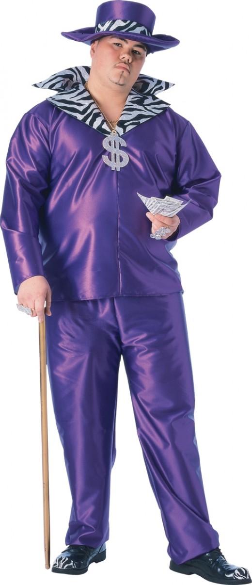 1970s Pimp Suit - Ideal for a 1970s themed party - plus size