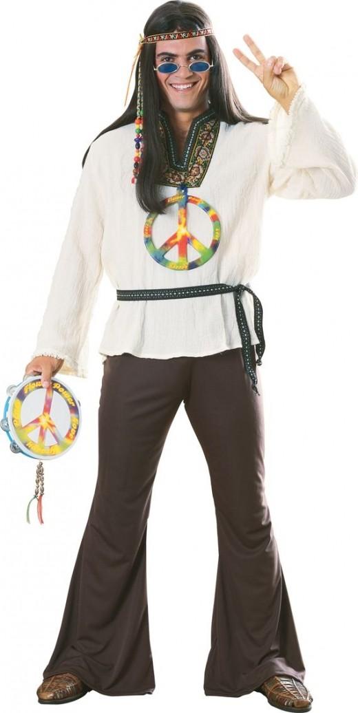 Mens Hippy Costume