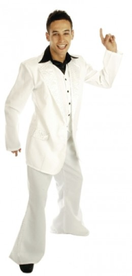 70s Mens White Costume - John Travolta