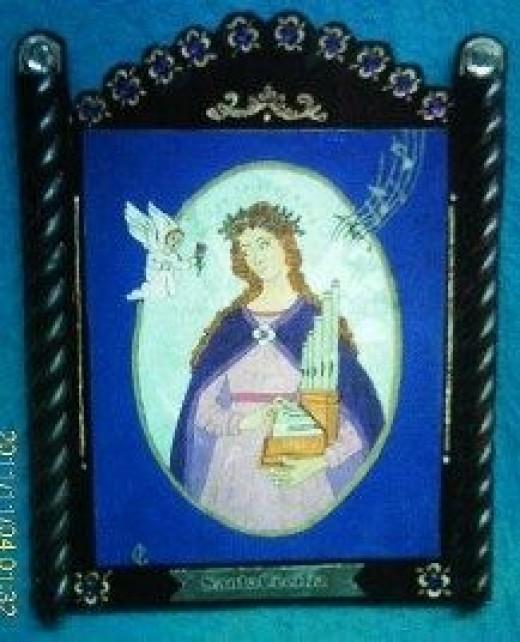 St Cecilia Retablo