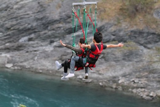 Zip Riding in Queenstown