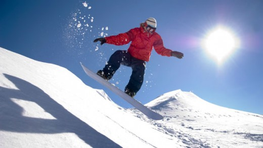 Snowboarding in Queenstown