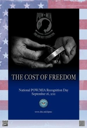 If you don't have a POW/MIA Flag at lease notice them are remember.