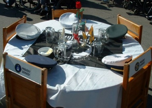 Set the table for the ceremony.