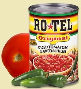 """""""Ro tel"""" or a store brand tomato with chilies"""