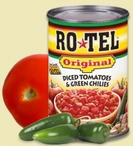 """Ro tel"" or a store brand tomato with chilies"