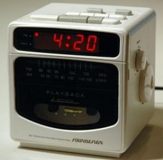 cassette cube clock radio